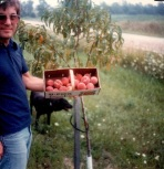 Dad with Peaches