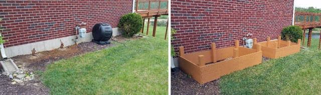 Raised Beds Before and After